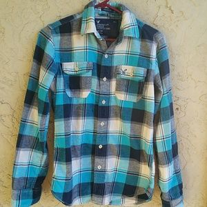 Men's XS American Eagle long sleeve plaid shirt